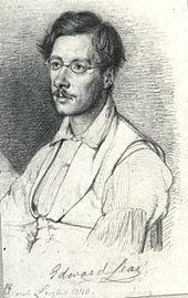 Edward Lear drawing by William Marstrand