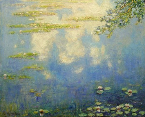 Claud Monet, Water Lilies, photographed by Harvey Schlencker  [Public domain], via Wikimedia Commons