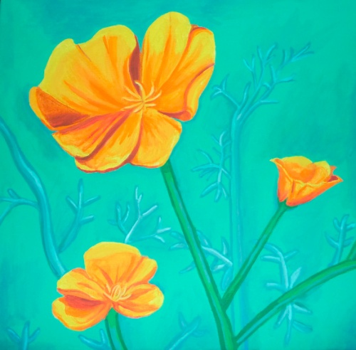 California Poppies by Lisa Repka