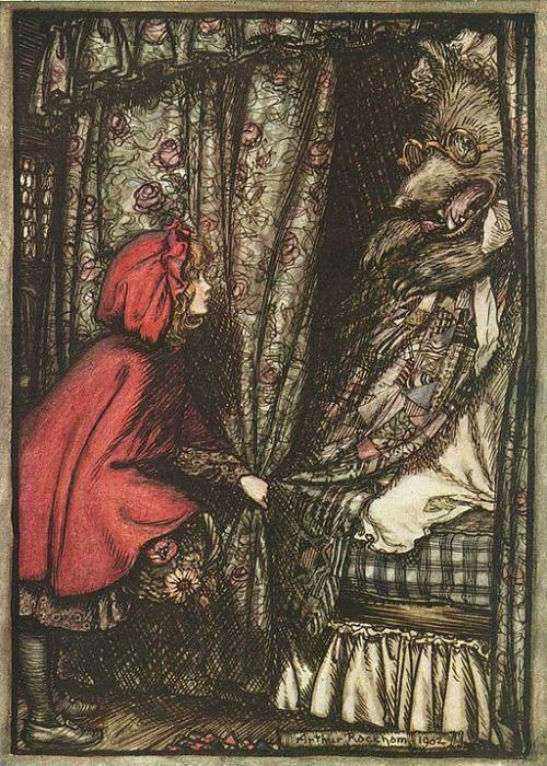 Little Red Riding Hood by Arthur Rackham, via Wikimedia Commons