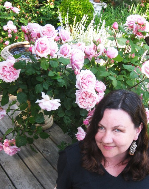 Simone with roses
