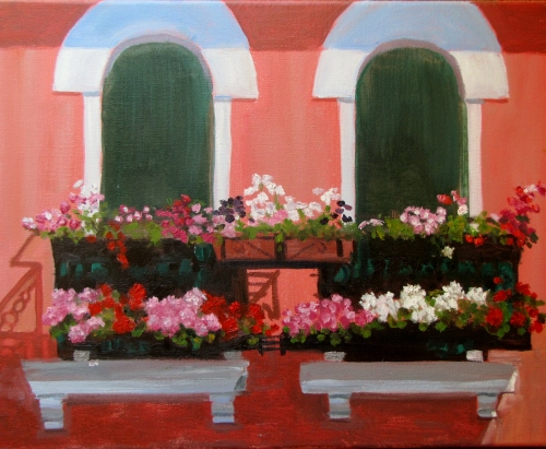 Deb Bartos - Window Boxes, Murano Italy.