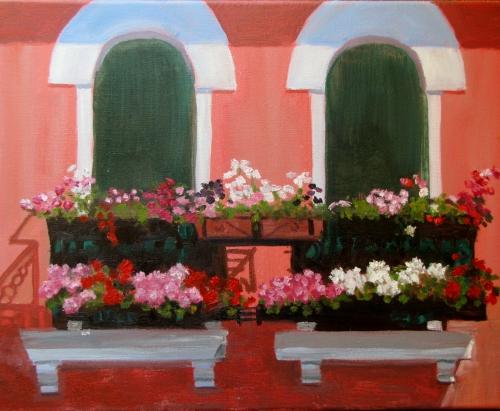 Deb Bartos - Window Boxes, Murano Italy.