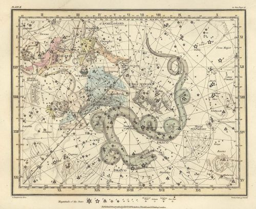 Alexander Jamieson, Celestial Atlas Plate 2, ,via Wikimedia CommonsPlate 2 from A celestial atlas comprising a systematic display of the heavens in a series of thirty maps illustrated by scientific description of their contents and accompanied by catalogues of the stars and astronomical exercises